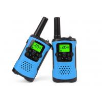 China Durable Dual Band Kids Walkie Talkie Blue Color With Noise Cancelling Function wholesale