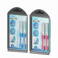 China 2 pieces Interdental Brush with PP Handle, Nylon Brush and Stainless Steel Wire on sale