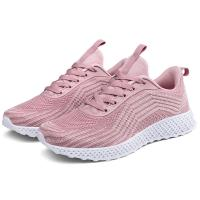 China Pink Color Supportive Tennis Shoes , Comfortable Stylish Tennis Shoes on sale