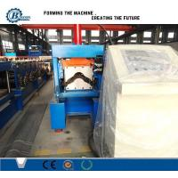 China 0.3 - 0.8mm Ridge Cap Roll Forming Machine , Color Coated Steel Top Step wholesale