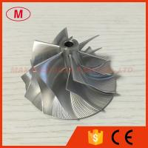 China RHF5 44.20/58.00mm 6+6 Blades high performance billet/aluminum turbo compressor wheel for on sale