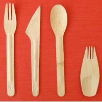 China Disposable and Biodegradable Bamboo Cutlery Sets on sale