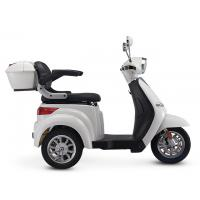 China White Color 3 Wheel Mobility Trike , Three Wheel Electric Scooter With LED Light on sale