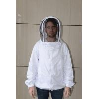 China White Color Bee Jacket Beekeeper Costume Without Collar , Easily Washable wholesale
