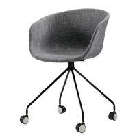 China Custom Logo Plastic Dining Chairs , Unique Plastic Office Chairs With Wheels wholesale