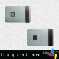 China Promotional Laminated Transparent PVC Card , Magnetic Stripe Card 0.76mm wholesale