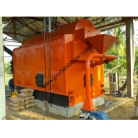 China Low Pressure Easy Install Solid Fuel Firewood Steam Boilers For Heating System wholesale