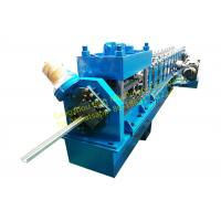China Steel Rolling Shutter Door Guide rail Roll Forming Machine 3 Phase With 3kw Motor Power wholesale