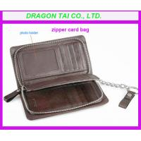 China Zipper card case wallet, customized color are available wholesale