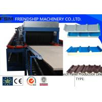 China 5 Ribs Covered 1000mm PU Sandwich Panel Production Line With Double-Belt Conveyor wholesale