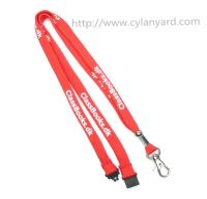 China Lanyard manufacturer China for custom tube polyester neck strap lanyard with metal hook, on sale