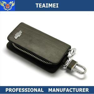 China Customize Vehicle Logo Real Leather Key Case Unisex For Decration wholesale