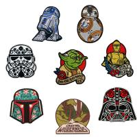 Quality 3D Embroidered Custom Cloth Badges Woven Patch Ironing On Back Damask Material for sale