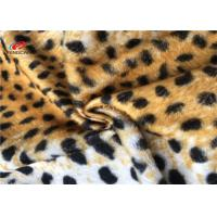 Leopard Print 100 Polyester Fabric Stretch For Blanket Toys Customized Patterned