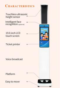 China easy to move ultrasonic height measurement digital weight scale with large lcd display wholesale