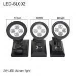 2W IP65 exterior solar LED light & Solar led garden light for park