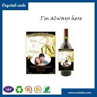 China Favorable price newest design wine bottle label,metal wine label,wine label wholesale
