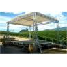 Silver DJ Aluminum Box Truss , Hard Welding Outdoor Concert Stage Lighting Truss for sale