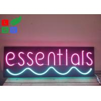 China Neon Window Signs With DC 12 Volt Black Backing Pink Words Using At Home wholesale