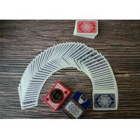 China Durable Casino Playing Cards Custom Printing Poker Size Paper And Pvc Material wholesale