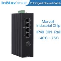 China Full Gigabit 5 ports PoE Industrial grade Ethernet Switch support Wide temperature wholesale