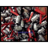 China 2PC Body Screwed End 1000PSI Stainless Steel Ball Valves A351 CF8 / CF8M / CF8C on sale