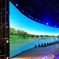 China TV / Broadcasting Center P4  Soft Led Screen , Curved Led Video Wall 1000cd/㎡ on sale