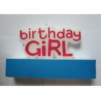 Delightful Custom Girl Happy Birthday Letter Candles Red Non - Toxic For Party