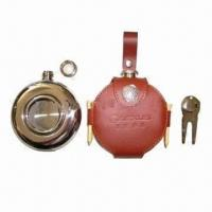 China Golf wine bottle holder, made of leather wholesale