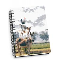 China Depth Effect A4 A5 A6 3d Lenticular Notebook With Spiral Binding For Student Stationery wholesale