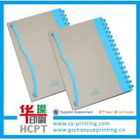 China Custom spiral paper notebook with elastic bound on sale