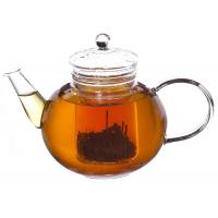 China Pagoda Clear Borosilicate Glass Teapot with Infuser , Filter 900ml on sale