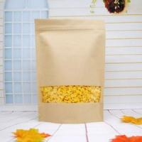 China Recycled Customized Paper Bags , Stand Up Kraft Paper Packaging Bag on sale