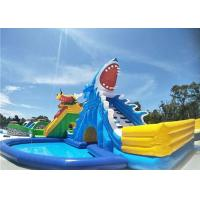 Buy cheap Environmental Backyard Inflatable Water Parks Shark Water Slide With 2 Years from wholesalers