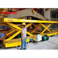 China Crane Work Hydraulic Lifting Transfer Cart With Large Table Electric Power wholesale