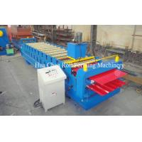 China Double Layer Roof Panel Color Steel Sheet Roll Forming Machine With 12 / 13 Rows wholesale