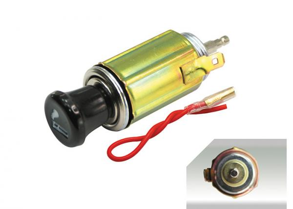 Quality DC12V 100W 8.9cm long car cigarette chart lighter adapter ignition plug universal socket kit with wires for sale