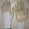 China White PVC coated working gloves PG1511-6 wholesale
