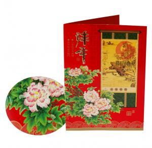 China Custom New Year, Christmas gift Matte lamination or UV coating Greetings Card Printers on sale