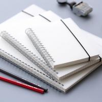 China OEM Recycled Paper Spiral Bound Book Printing Removable White PP Spiral Notebook on sale