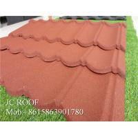 China Lightful House Shingle Colour Coated Steel Roofing Sheets 1300*420mm Overall Size wholesale