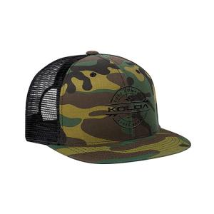 China Custom Five Panel 56cm Mesh Trucker Caps With Snap Flat Embroidery Logo wholesale