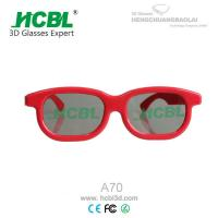 China Reald Red Plastic 3D Glasses wholesale
