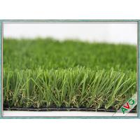 China High Wear Resistance Outdoor Artificial Grass Field Green / Apple Green Color wholesale