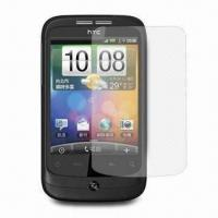 China Cut-out Clear Screen Protector for HTC Wildfire G8, Made of PET Material, Anti-scratch 4H, 3 Layers wholesale