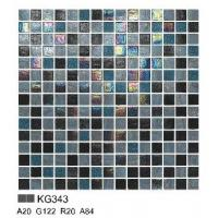 China KG343 mosaic pattern for swimming pool chip size 20*20/ sheet size 327*327mm wholesale