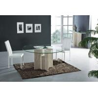 China Iran Natural Travertine Stone Dining Table High End Dining Glass Dining Room Furniture on sale