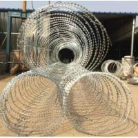 China BTO-22 Galvanized Razor Barbed Wire for Protection Military Security Fence wholesale