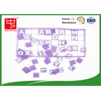 China Purple hook and loop hook and loop dots , Lovely conenient alphabet letters for teaching wholesale