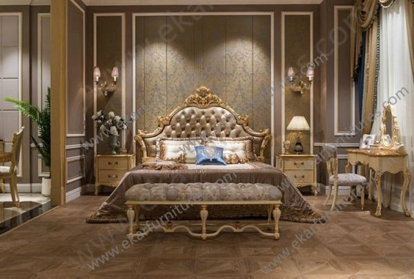 Quality 2015 classic bedroom furniture wooden master design bed TA-008 for sale